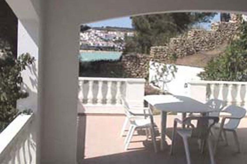 View of the terrace of the Jardín Playa 3 apartment.