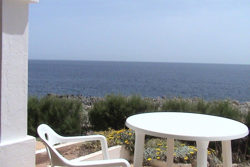 View towards the sea of Menorca, from the terrace of the Rocas Marinas 2R apartment.