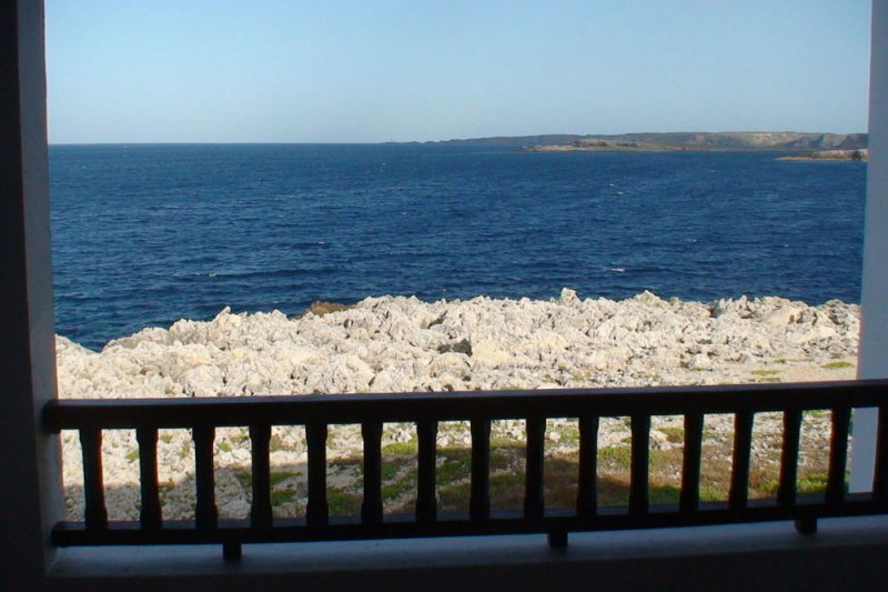 Landscape of the sea and the coast of Menorca from the Rocas Marinas 4A apartment.