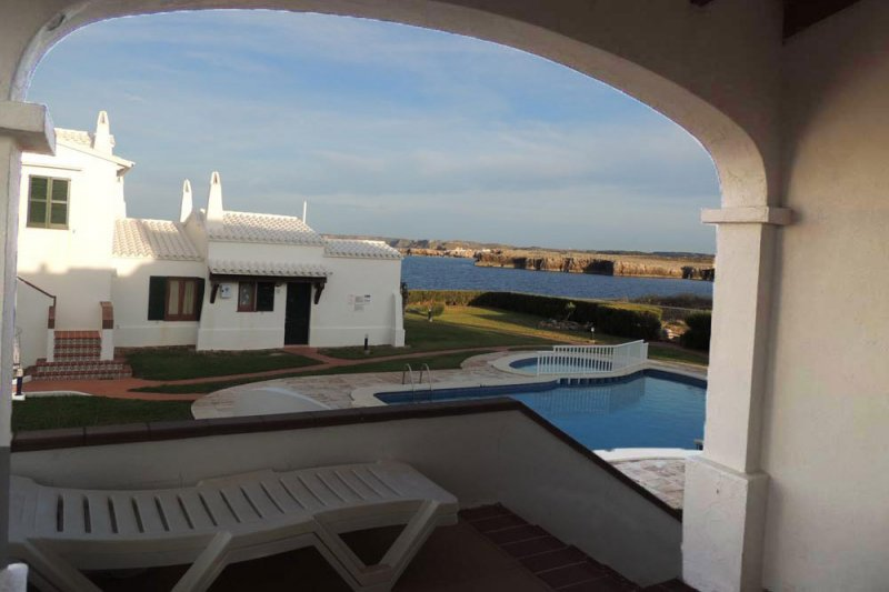 Sunset from the terrace of the Rocas Marinas 6 apartment.