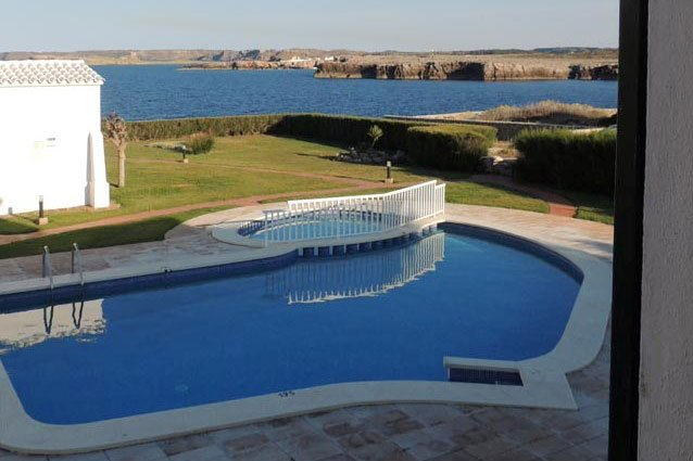Pool of the apartment complex Rocas Marinas.
