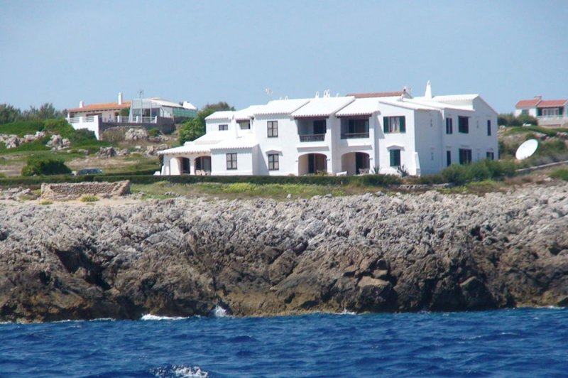 View from the sea of the apartments of Rocas Marinas.