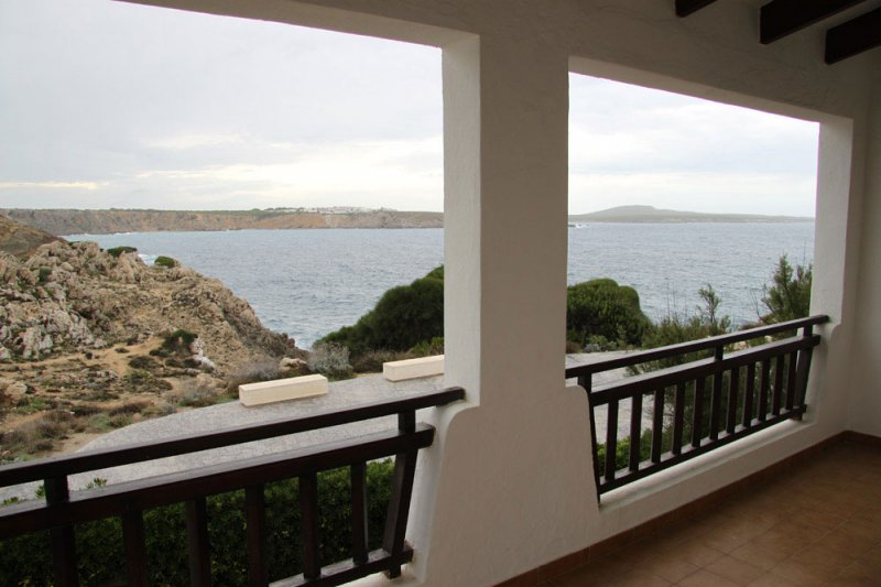 Views of the coast of Menorca from the covered terrace of the Arco Iris 5 apartment.