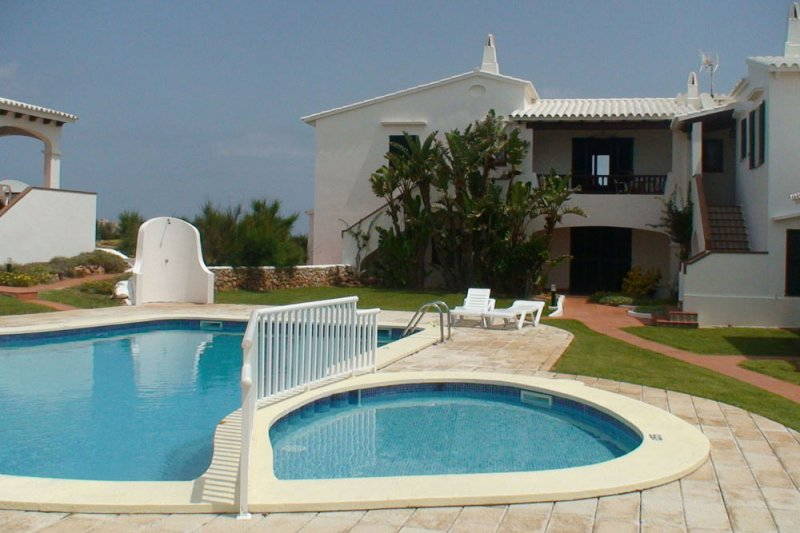 Beautiful pool of the apartment complex of Rocas Marinas